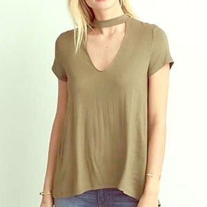 Olive green Soft & Sexy Tee Small